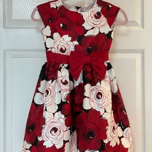 Gymboree Red & Black Girls Dress Size 7
